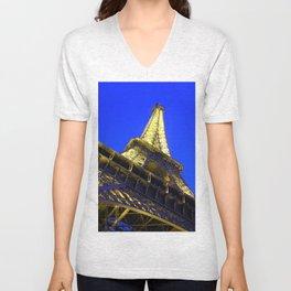 Eiffell Tower Unisex V-Neck