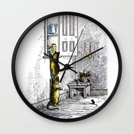 Fish for Supper Wall Clock