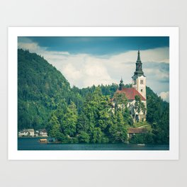 Lake Bled, Slovenia 1 Art Print