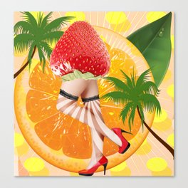 misses  tutti fruity Canvas Print