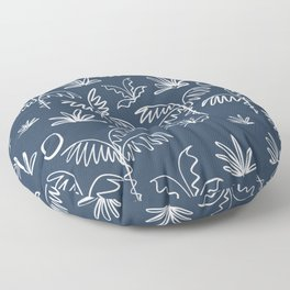 Oasis (navy) Floor Pillow