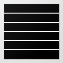 Black White Pinstripes Canvas Print