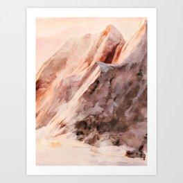 snow mountains landscape Art Print