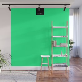 Minimal Green Light Wall Mural