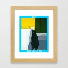 STILL AS A MOUSE Framed Art Print