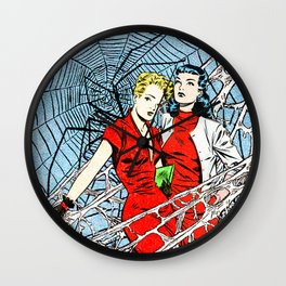 """""""Befriending the Woman Who Catfished Me"""" Wall Clock"""