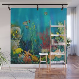 Undersea Art With Coral Wall Mural