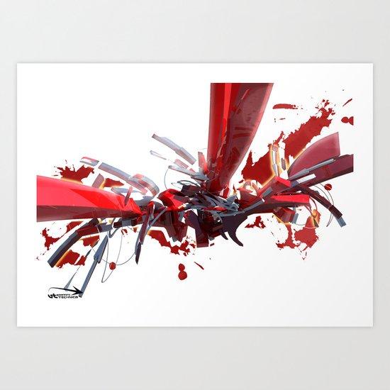 3d graffiti - 'Shapes Art Print