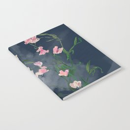 Lilies and sweetpeas Notebook