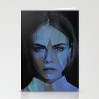cara delevingne Stationery Cards featuring Cara Delevingne  by TRUANGLES