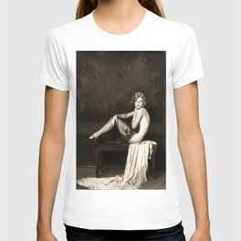 Ziegfeld Follies Jazz Age Showgirl black and white photograph T-shirt