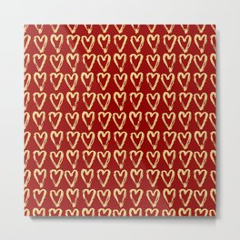 Hearts Of Gold Metal Print
