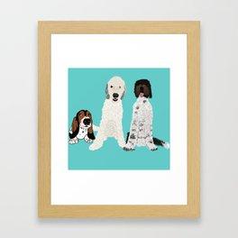 A Dog Mom's 3 Babes Framed Art Print