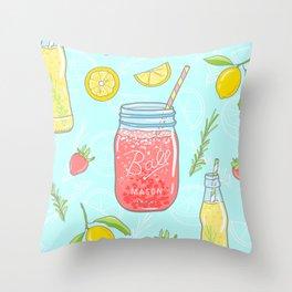 Mason Jar Throw Pillow