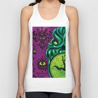 "haunted mansion Tank Tops featuring Disneyland Haunted Mansion inspired ""Wall-To-Wall Creeps No.3""  by ArtisticAtrocities"