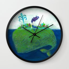 Mermaid & Big Blue Wall Clock