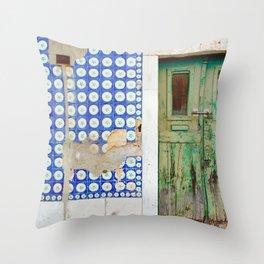 The green door Throw Pillow