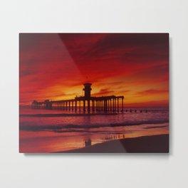 The End Of The Huntington Beach Pier Metal Print