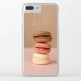 Pink Paris Macaroons Clear iPhone Case