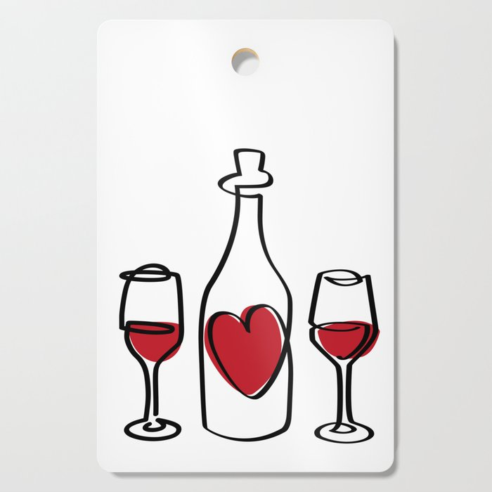Red Wine and Love Cutting Board
