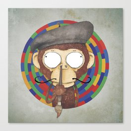 Monkey Artist Canvas Print