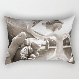 Naked Cowboy (sepia) Rectangular Pillow