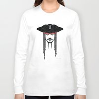 jack sparrow Long Sleeve T-shirts featuring Iconic Sparrow by Arne AKA Ratscape