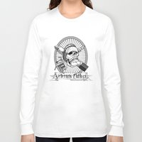 tattoos Long Sleeve T-shirts featuring Veterano Tattoos Logo by DaCreativeGenius