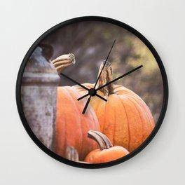 pumpkins + milk cans Wall Clock