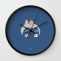 calcifer Wall Clocks featuring Howl's Moving Castle, 2004 by Jarvis Glasses