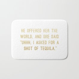 Shot of Tequila Bath Mat
