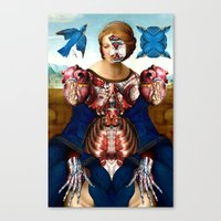 madonna Canvas Prints featuring Madonna by DIVIDUS
