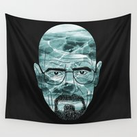 heisenberg Wall Tapestries featuring Heisenberg, ice man by aWharton