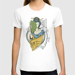 Japanese Geisha Fantasy T-shirt