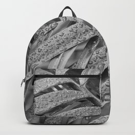 Mono Tropical Leaves and Waterdroplets Backpack