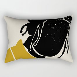Black Hair No. 1 Rectangular Pillow