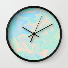 Faux Holographic Iridescent Texture Wall Clock
