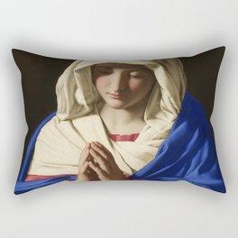 The Virgin in Prayer by Giovanni Sassoferrato (c. 1645) Rectangular Pillow