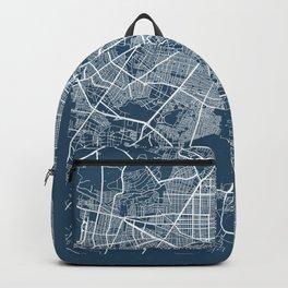 Guadalajara Blueprint Street Map, Guadalajara Colour Map Prints Backpack