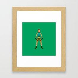 Low poly Lara Croft Framed Art Print
