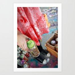 Graffiti Girl, Berlin 2011 Art Print