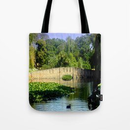 Bridge over Pond Tote Bag