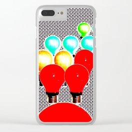 LIGHTBULBS 35 Clear iPhone Case