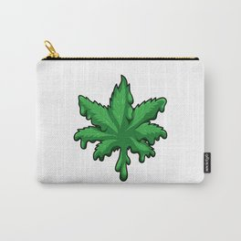 Cannabis Leaf Melts - Melting Weed - THC CBD Carry-All Pouch