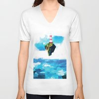 lighthouse V-neck T-shirts featuring Lighthouse by Vadim Cherniy