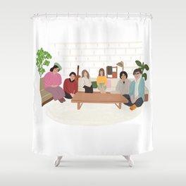 Terrace House Shower Curtain