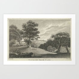 Pye, Charles (1777-1864) Windsor from the Park Art Print