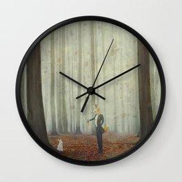 Fox and rabbit Wall Clock