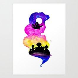 Jasmine Double Exposure Art Print