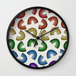 Rainbow Rainbows Wall Clock